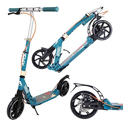 Apollo High End Scooter - Tornado City Scooter mit Bremse und Federung, City-Roller klappbar und höhenverstellbar, Kickscooter für Erwachsene und Kinder