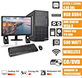 - CeO Delta V1 - Ordenador de sobremesa - AMD 200GE 3.20GHz 4MB Cache | 8GB RAM | 1TB HARD DISK | Radeon Vega 3 | HDMI/VGA Full HD | USB 3.0 | DVD | WI-FI | MONITOR LED 22 | WINDOWS 10 PRO
