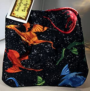Microwave Microwavable Pot Holder Mystical Magical Dragon Print Pattern