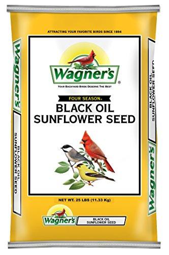Wagner's 76027 Black Oil Sunflower Seed Wild Bird Food, 25-Pound Bag