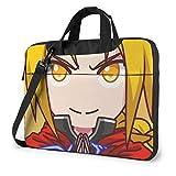 XCNGG Fullmetal Alchemist Anime Laptop Hombro Messenger Bag Tablet Computadora Almacenamiento Mochila Bolso de 13 Pulgadas