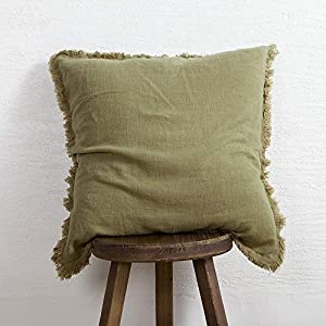 Linen & Viscose blend cushion cover. Linen what we use are made from highest quality Normandy-France Flax, certified by European Flax. It's OEKO-TEX & GOTS certified product, absent from harmful chemicals and substances. Solid cushion cover with gorg...