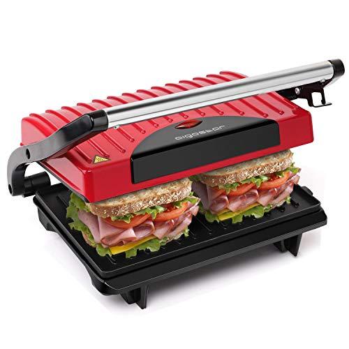 Aigostar Warme 30HHH - Panini Maker/Griglia, Pressa a sandwich, Griglia elettrica, 700 Watt, Fredda...