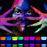 neon nights 8 x Peinture Corporelle-UV Maquillage Fluo Pour Lumière Noire