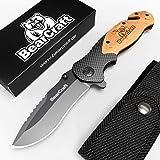 BearCraft Couteau Pliant en Carbone Design avec **...