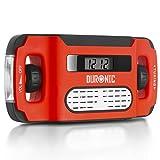 Duronic Apex Radio / Alarme / Lampe Torche / Chargeur USB dynamo et solaire – à affichage...