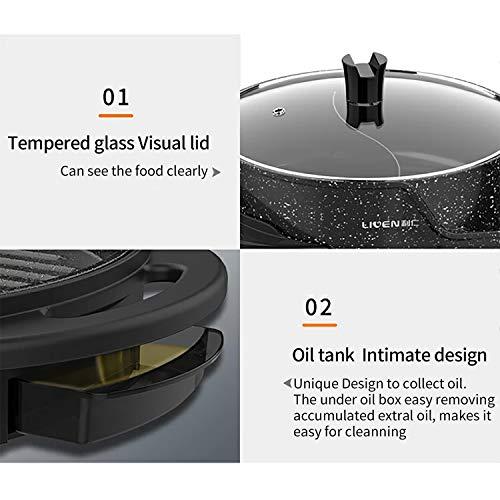 Product Image 6: Liven Electric Grill With Hot Pot SK-J6860 Multifunctional, Indoor Teppanyaki Grill/Korean BBQ/Shabu Shabu Hot Pot, 3.6L Capacity for 2-10 People