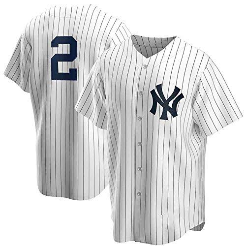 GMRZ Camiseta MLB Hombre, Beisbol Jersey con New York Yankees # 2# 24 Diseño Logo Ropa Deportiva Equipo De Béisbol De Grandes Ligas Fans Shirt Camisa Manga Corta Unisexo,E,M
