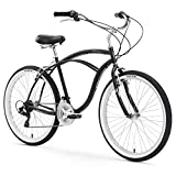 Firmstrong Urban Man Beach Cruiser Bike, Mens Bicycle 26-Inch, 3-Speed, Matte Black