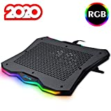 KLIM Rainbow + Refroidisseur PC Portable - 11' à 17' + Éclairage RGB + Support Ordinateur Portable Gaming + Ventilateur USB + Stable et Solide + Compatible avec Mac et PS4 + NOUVEAUTÉ 2020