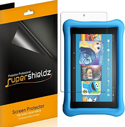 (3 Pack) Supershieldz for Fire HD 8 Kids Edition Tablet 8 inch (8th and 7th Generation Only, 2018 and 2017 Release) Screen Protector, High Definition Clear Shield (PET)