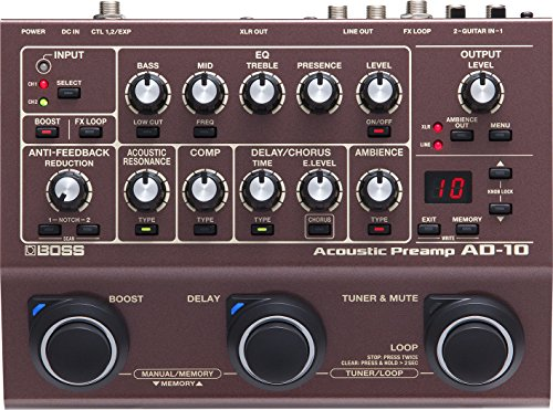 Boss AD-10 Acoustic Preamp and Multi Effects Guitar Pedal