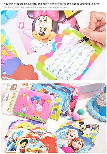 Image 2 - Qemsele Invitations, 30 Cartes + 30 Enveloppes pour fêtes d'anniversaire d'enfants Anglais Invitation à Une fête d'anniversaire pour Enfant garçons et Filles (4.3 * 5.5 Pouces (11 * 14cm), LOL)