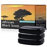 O Naturals African Black Soap Bar, Luxurious Texture Triple Milled Bar Soap Moisturizing Shea Butter...