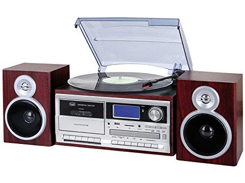 Trevi TT 1070 E Sistema Giradischi Stereo Bluetooth con Encoding, Lettore Mp3, CD, USB, Aux-In, SD,...