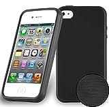 Cadorabo Coque pour Apple iPhone 4 / iPhone 4S en Noir DE Jais - Housse...