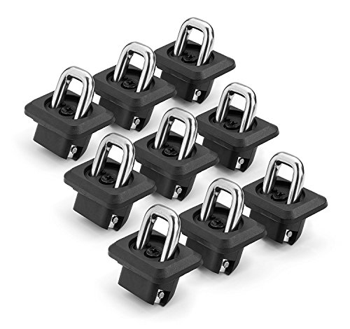 Bull Ring Bullet Inner Bed Retractable Tie-Down Anchors (9 Pack - Complete Bed Package) |fits '07-21 Chevy Silverado and GMC Sierra | fits '15-21 Chevy Colorado and GMC Canyon |