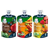 Gerber Organic 2nd Foods, Fruit & Veggie Variety Pack Pureed Baby Food, 3.5 Ounce Pouch, 18 Count