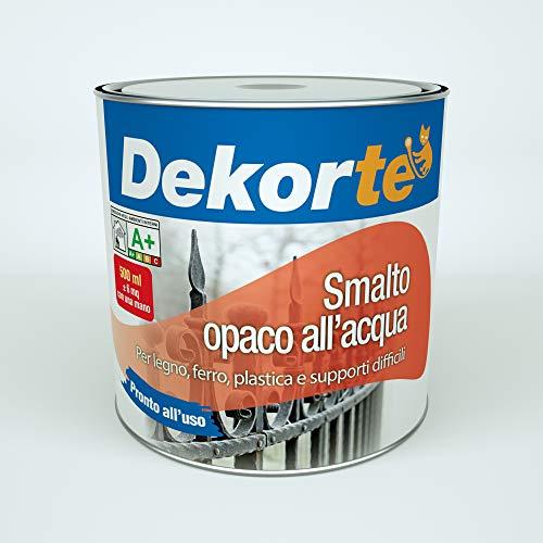 GDM Smalto all'Acqua opaco, Dekort (500 ml, Bianco)