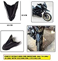 Vehicle compatibility: bajaj dominar 400, ns 200, as 200, ktm 125/200/390 ( up to 2017 models only), fz 250, fz 150 The front mudguard looks similar to that of the bmw g 310 gs. The custom mudguard blends well with the headlight Included components: ...