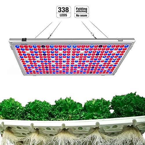Relassy Pflanzenlampe LED 300w Lichtleistung Vollspektrum Panel Pflanzenlicht, LED Grow Light, 65W Verbrauchsleistung Pflanzenlampen für blühende und tragende Obstpflanzen (M-300)