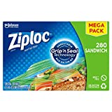 Ziploc brand Sandwich Bags are the unbeatable to grab on the go with new Grip 'n Seal technology These expertly designed reusable food storage bags feature extended tabs and easy grip texture making the bags easier to grip, grab and open even with we...
