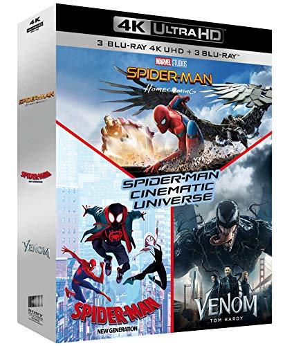 Spider-Man Cinematic Universe : Spider-Man Homecoming + Spider-Man New Generation + Venom [Francia] [Blu-ray]