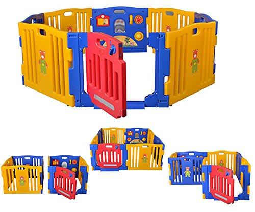 Star Ibaby Play Twin - Parque de bebé XXL, 8 piezas