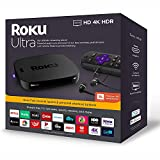 Newest Roku Ultra Streaming Media Player 4K/HD/HDR | Premium JBL Headphones | Enhanced Voice Remote with TV Controls and Personal Shortcuts | Powerful Quad-Core Processor | HDMI, Ethernet, Micro SD
