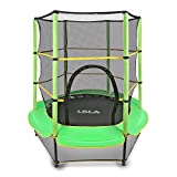"""LBLA 55"""" Kids Trampoline with Safety Enclosure Net and Frame Cover Trampoline for Children Jumping Training Indoor Outdoor Activities 4 5 6 years old"""