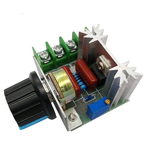 HiLetgo 2pcs 2000W AC Motor Speed Control Controller Adjustable Voltage Regulator 50-220V AC High Power Motor Governor Thermostats