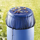 Mesh Cover for Rain Barrels with Drawstring, Water Collection Buckets Tank Protector, Rain Bucket...