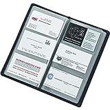 Alassio 41006 - Visitenkartenalbum aus FINEtouch-Lederimitat, Etui für Visitenkarten in Schwarz, Visitenkartenetui ca. 20 x 11, 5 x 1, 5 cm, Visitenkartenmappe für 120 Karten