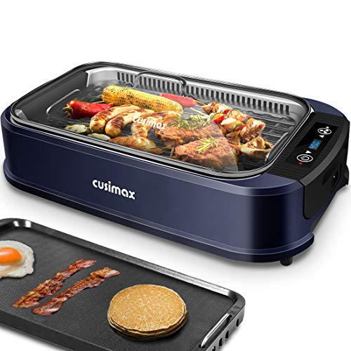 Product Image 1: Indoor Grill Electric Grill Griddle CUSIMAX Smokeless Grill, <a href=