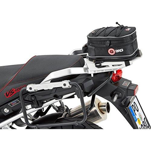 QBag Hecktasche Motorrad Motorradtasche Hecktasche Motorrad Hecktasche 02 Motorradgepäck Tasche Hinterradgepäckträger, universell, einfache Montage, 5 bis 8 Liter Stauraum, schwarz