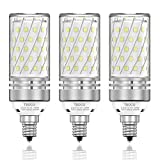 TSOCO E12 LED Bulbs,12W LED Chandelier Light Bulbs,100 Watt Equivalent,6000K Daylight White,1200LM,Non-Dimmable Ceiling Fan Light Bulbs,Pack of 3