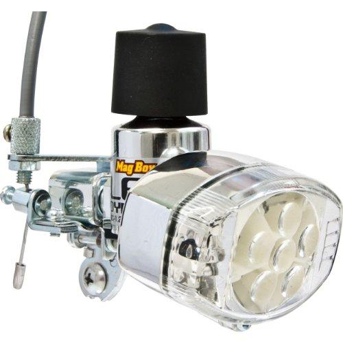 丸善(MARUZEN) Mag Boy [MLA-8-RL-R] LED ホワイト6灯レッド2灯 リモートレバー装備 発電ランプ
