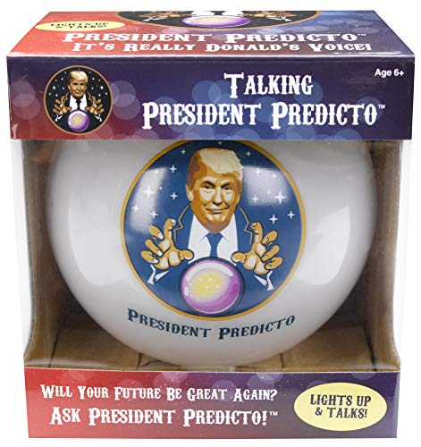 President Predicto - Donald Trump Fortune Teller Ball - The Greatest Way to Discover Your Future - Ask a YES or NO Question & Trump Speaks the Answer - Like a Next Generation Magic 8 Ball – Funny Gift
