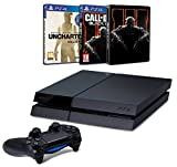 Contenu : Console PS4 500Go + Uncharted : The Nathan Drake Collection + PS Plus 3 mois Call of Duty : Black Ops III + Steelbook exclusif Amazon