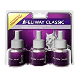Feliway Classic 30 Day Refill (Value 3 Pack), Comforts Cats And Helps Solve behavioural Issues in The Home - 48ml x3