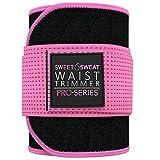 Sweet Sweat 'Pro Series' Waist Trimmer (BLK/Pink, XS - S)
