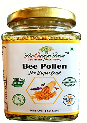The Orange Town - Bee Pollen | The Superfood | Multifloral | 100% Natural | Chemical Free | Immunity Booster. (150 GM)