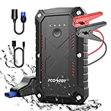 Battery Starter for Car, Fconegy 2200A Peak 25000mAh Portable Car Jump Starter with USB QC3.0 Charger, Smart Safety Jumper Clamps, Portable Power 12V Car Booster, (up to 8.0L car 7.0LDiesel Engines)