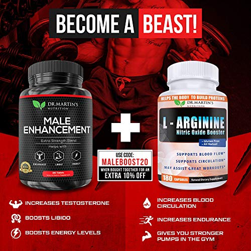Male Enhancement Supplement | 180 Capsules | 3 Month Supply | Boosts Energy, Testosterone, Endurance & Enhances Muscle Growth | with Gingseng, Maca, Tongkat Ali | Healthy Weight Loss and Fat Burning 6