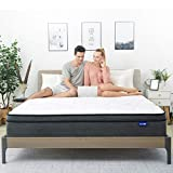 Queen Mattress- Sweetnight Queen Size Mattress in a Box,10 Inch Plush Pillow Top Spring Hybrid Mattress,Gel Memory Foam for Sleep Cool, Motion Isolating Individually Wrapped Coils,Medium-Firm Feel