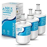 AQUACREST DA29-00003G Refrigerator Water Filter, NSF 53&42 Certified to Reduce 99% Lead, Compatible with Samsung DA29-00003G, DA29-00003B, Aqua-Pure Plus, HAFCU1 Filter (Pack of 3, Packing May Vary)