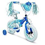 Huffy Bicycle Company Kids Bike for Girls, Disney Frozen, Elsa, Deep Blue, 12 inch (Renewed)