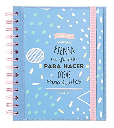 Agenda Amelie Classic Blue 2021-2022 - Agenda escolar 2021-2022 / Agenda 2021 semana vista - Agenda 11 meses desde Agosto de 2021 a Junio de 2022 | Producto licencia oficial - Agenda Kalenda