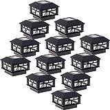 GreenLighting 12 Pack Modern Design Solar Powered 5 Lumen Post Cap Light for 4x4 or 5x5 Posts (Black)