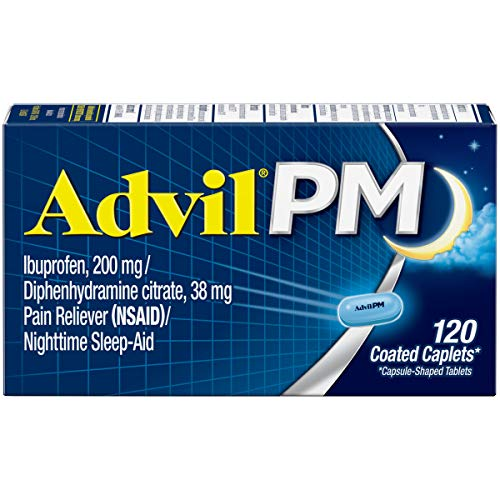 Advil PM (120 Count) Pain Reliever/Nighttime Sleep Aid Coated Caplet